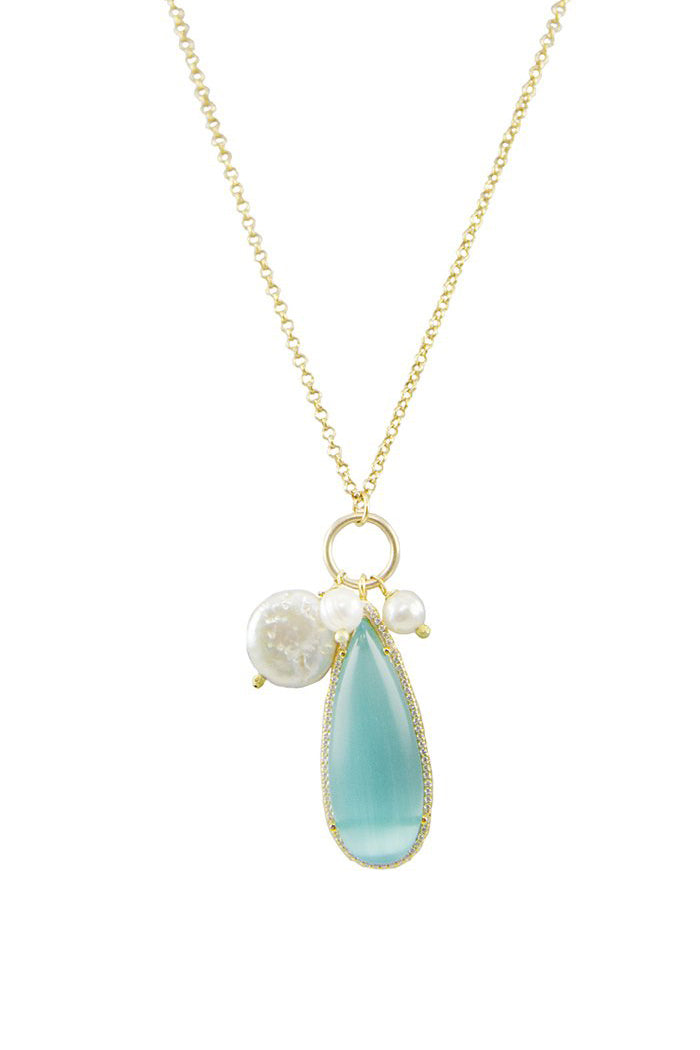 marcia moran anca necklace blue cat's eye