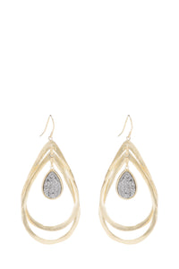 marcia moran tyan earrings titanium druzy