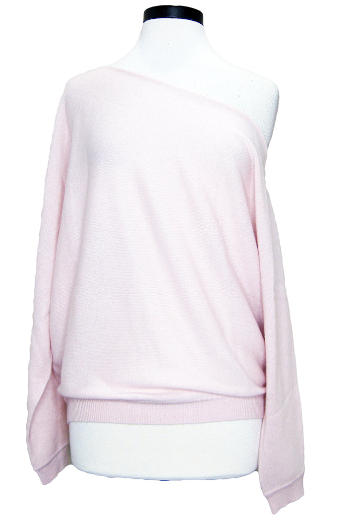 minnie rose off the shoulder sweater pink