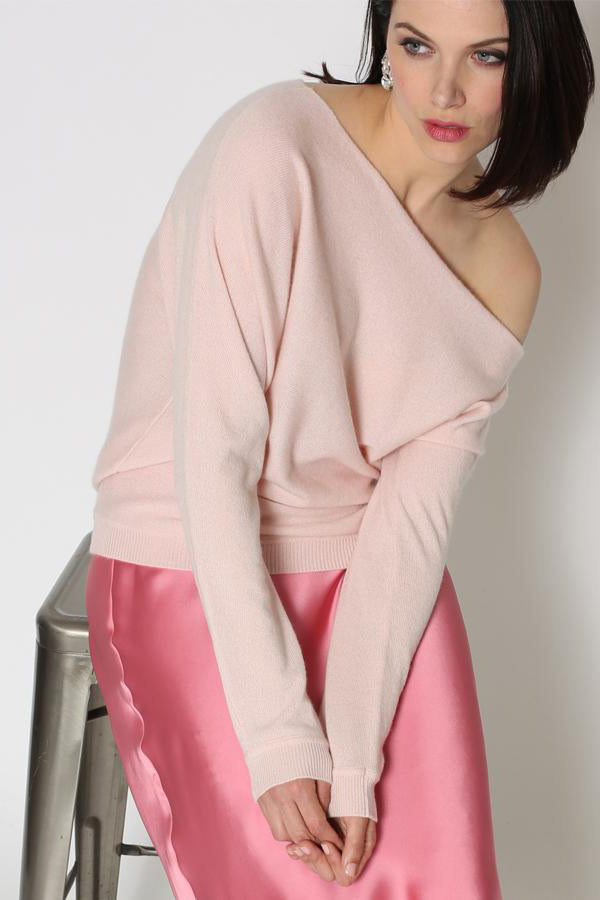 minnie rose off the shoulder sweater
