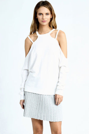 minnie rose long sleeve cold shoulder