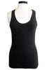 minnie rose cotton layering tank charcoal