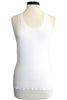 minnie rose cotton layering tank white