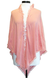 minnie rose frayed edge shawl english rose