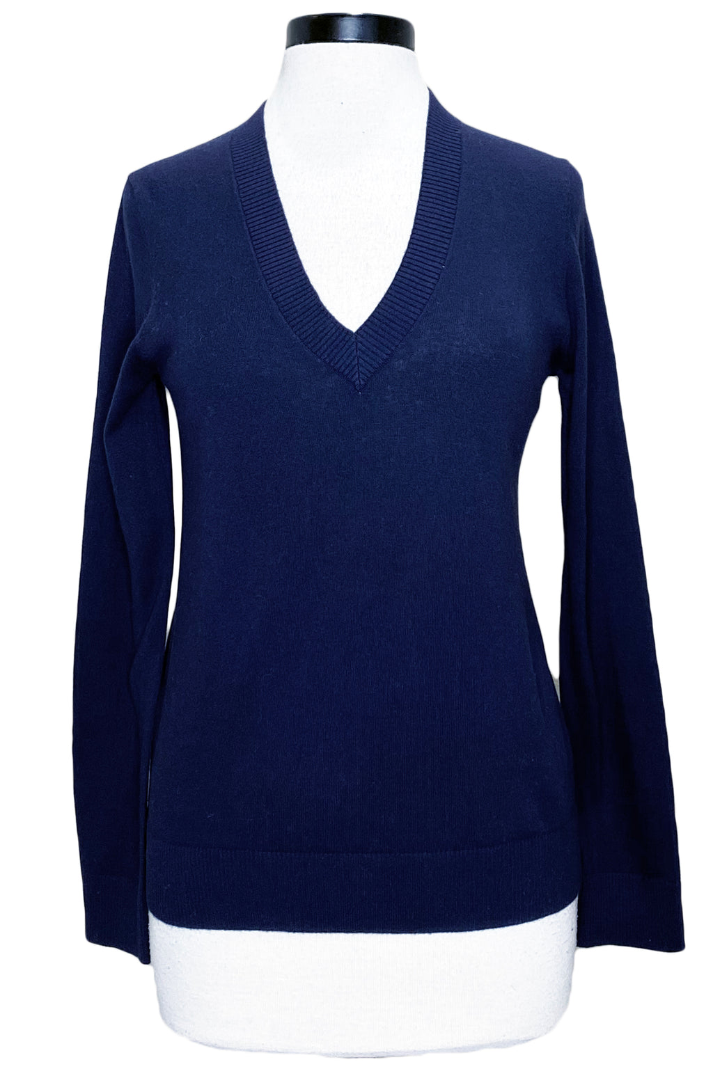 minnie rose long sleeve v-neck navy