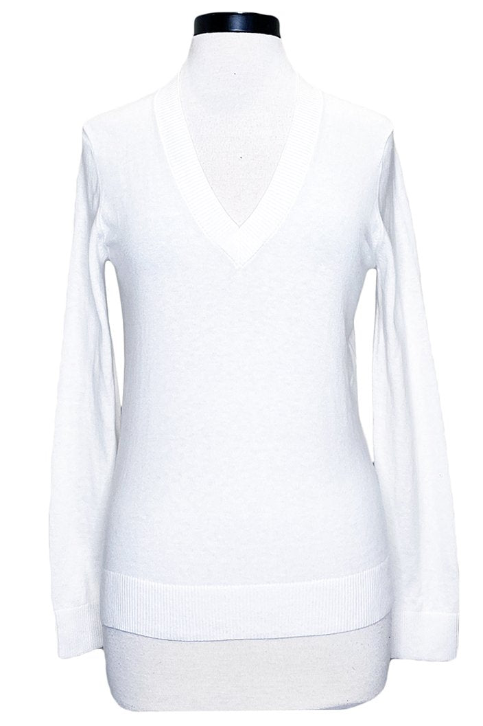 minnie rose long sleeve v-neck white