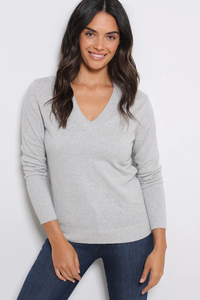 minnie rose long sleeve v-neck