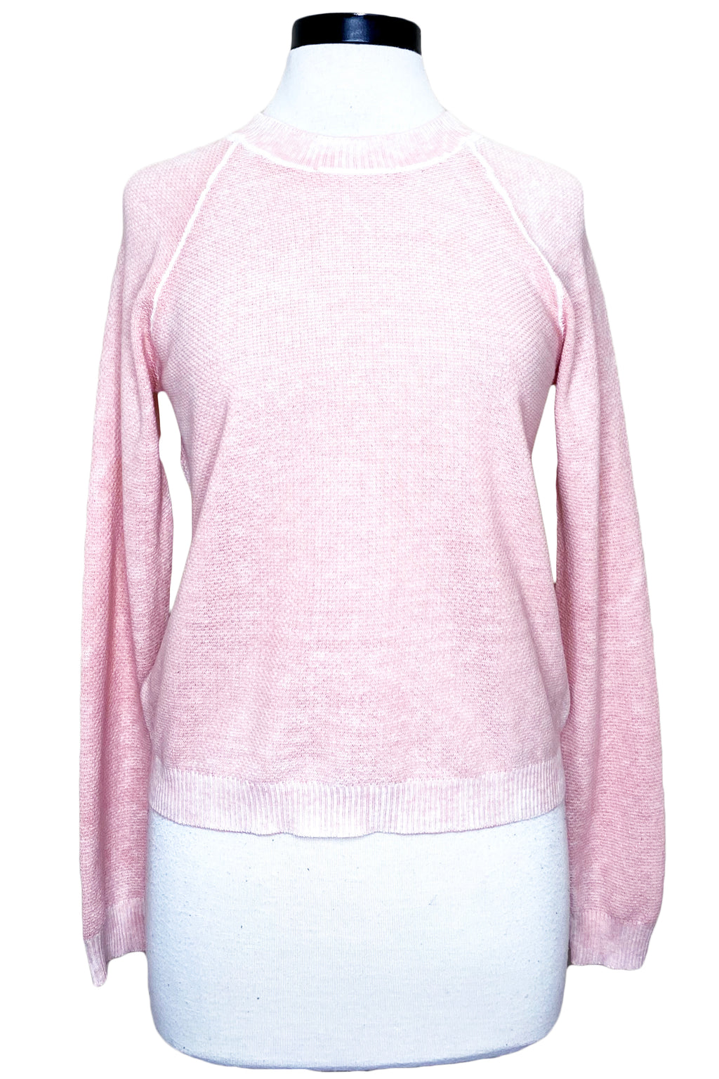 minnie rose reverse print crew neck pink sands