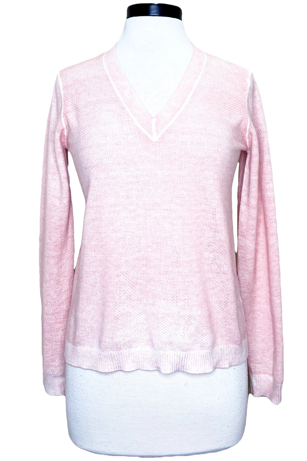 minnie rose reverse print v-neck pink sand