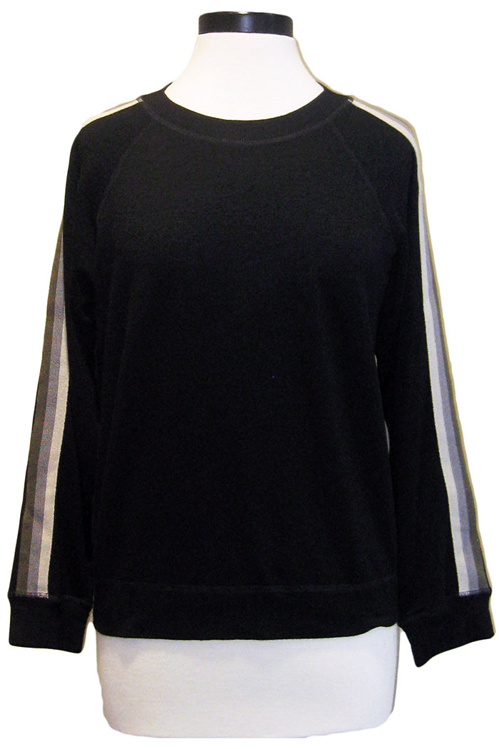 monrow neutral stripe raglan black