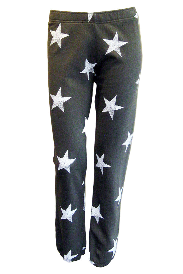 monrow oversized star sweats evergreen