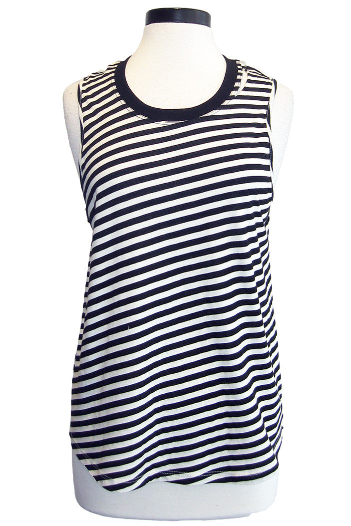 monrow slash stripe muscle tee natural