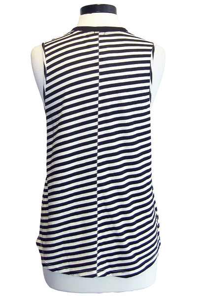 monrow slash stripe muscle tee