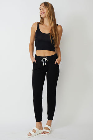 monrow supersoft sporty sweats black
