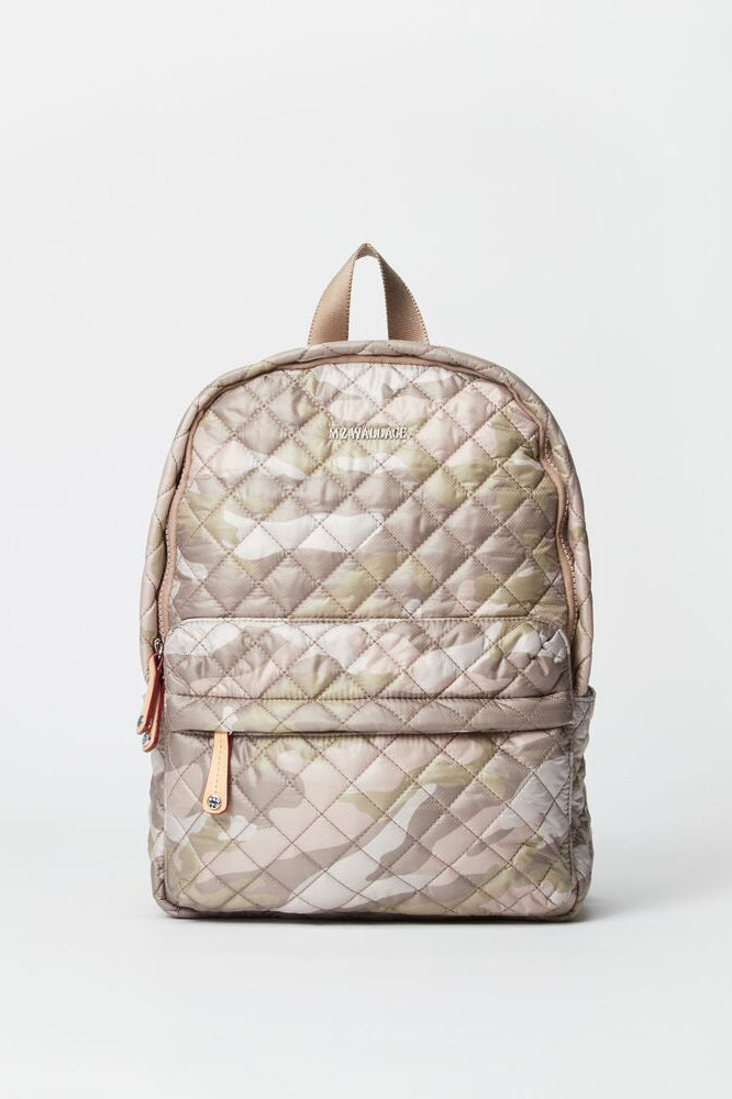 mz wallace city backpack in blush camo