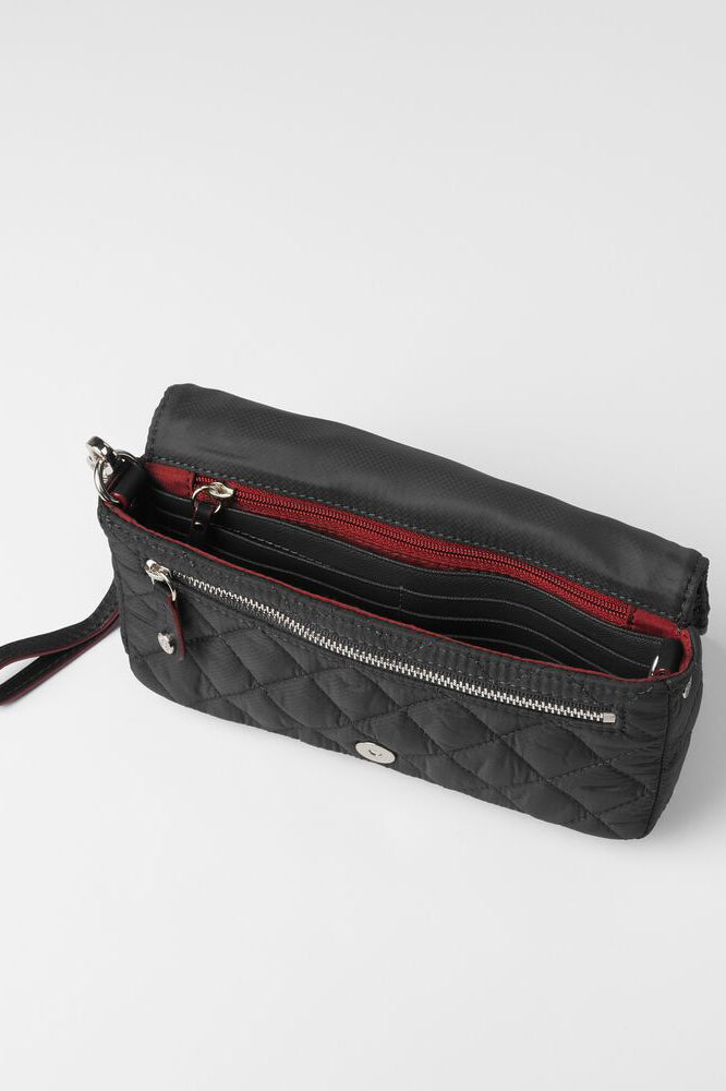 mz wallace crosby convertible wristlet in black