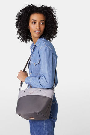 mz wallace mini soho tote in fog/magnet colorblock