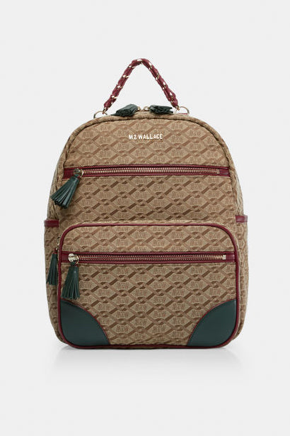 mz wallace tribeca backpack in ivy logo jacquard