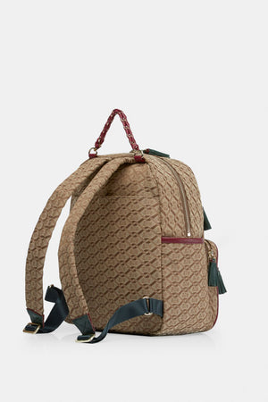 mz wallace small tribeca backpack in ivy logo jacquard
