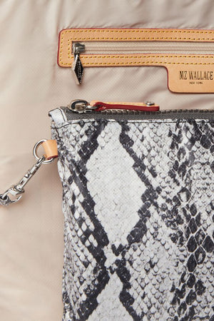 mz wallace city backpack in grey snake