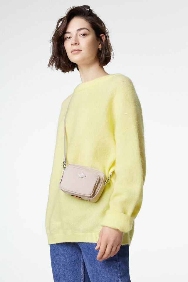 mz wallace mini gramercy crossbody in mushroom