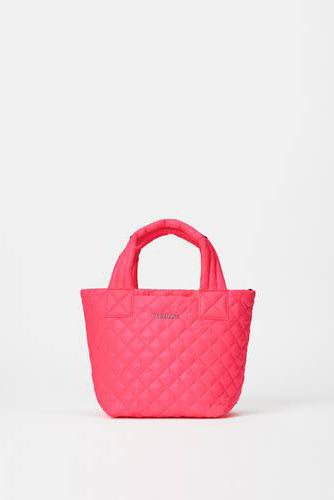 mz wallace mini metro tote deluxe in neon pink