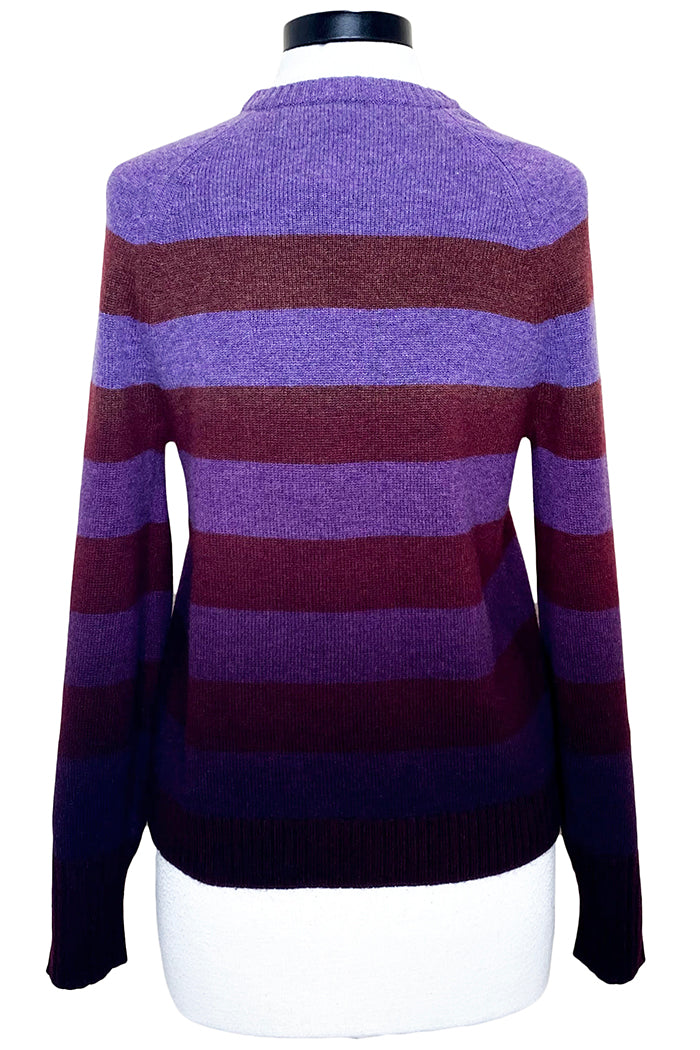 naadam dip dye striped crew neck sweater