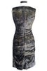 nicole miller collection metallic ruched dress