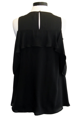 artelier nicole miller cold shoulder blouse