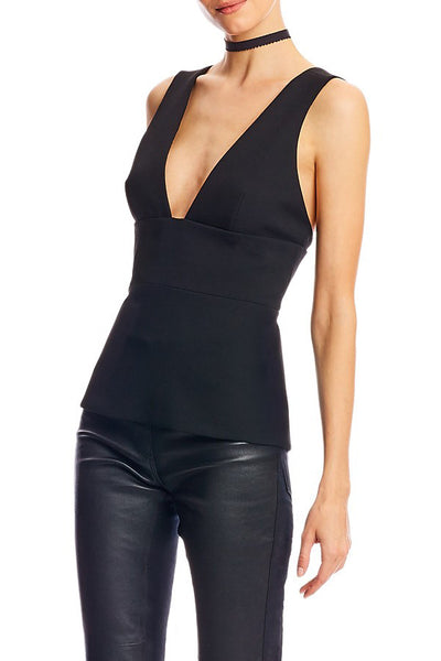 artelier nicole miller low v-neck top