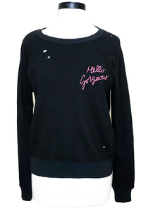 n:philanthropy belize sweatshirt black hello gorgeous