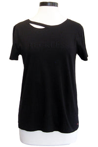 n:philanthropy harlow bff tee reckless black cat
