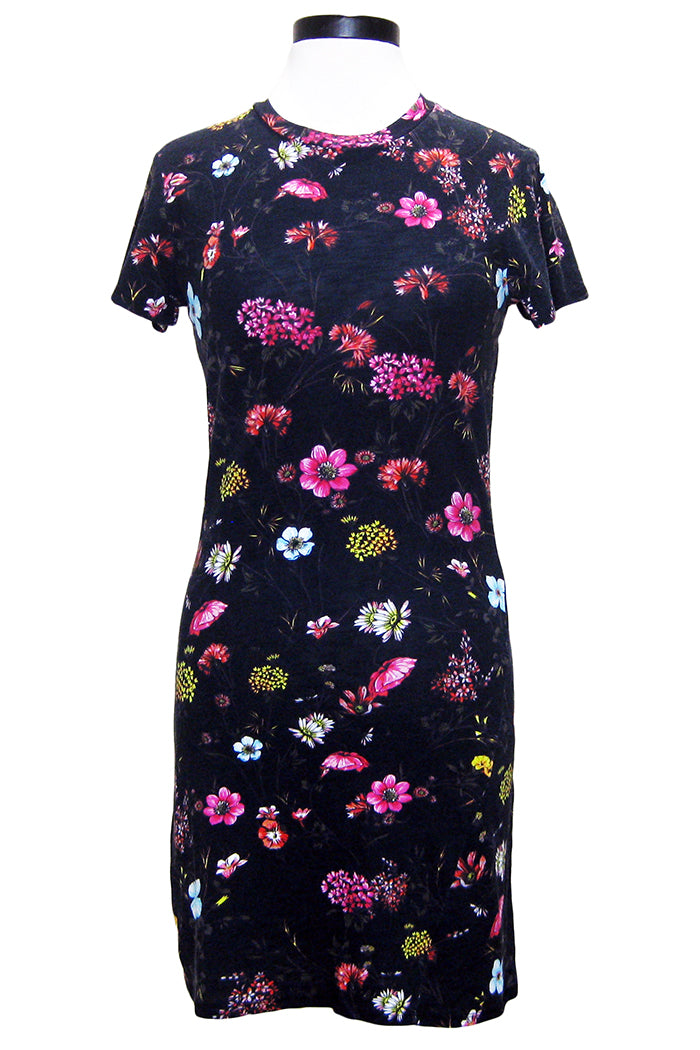 pam & gela floral fineline t-shirt dress black