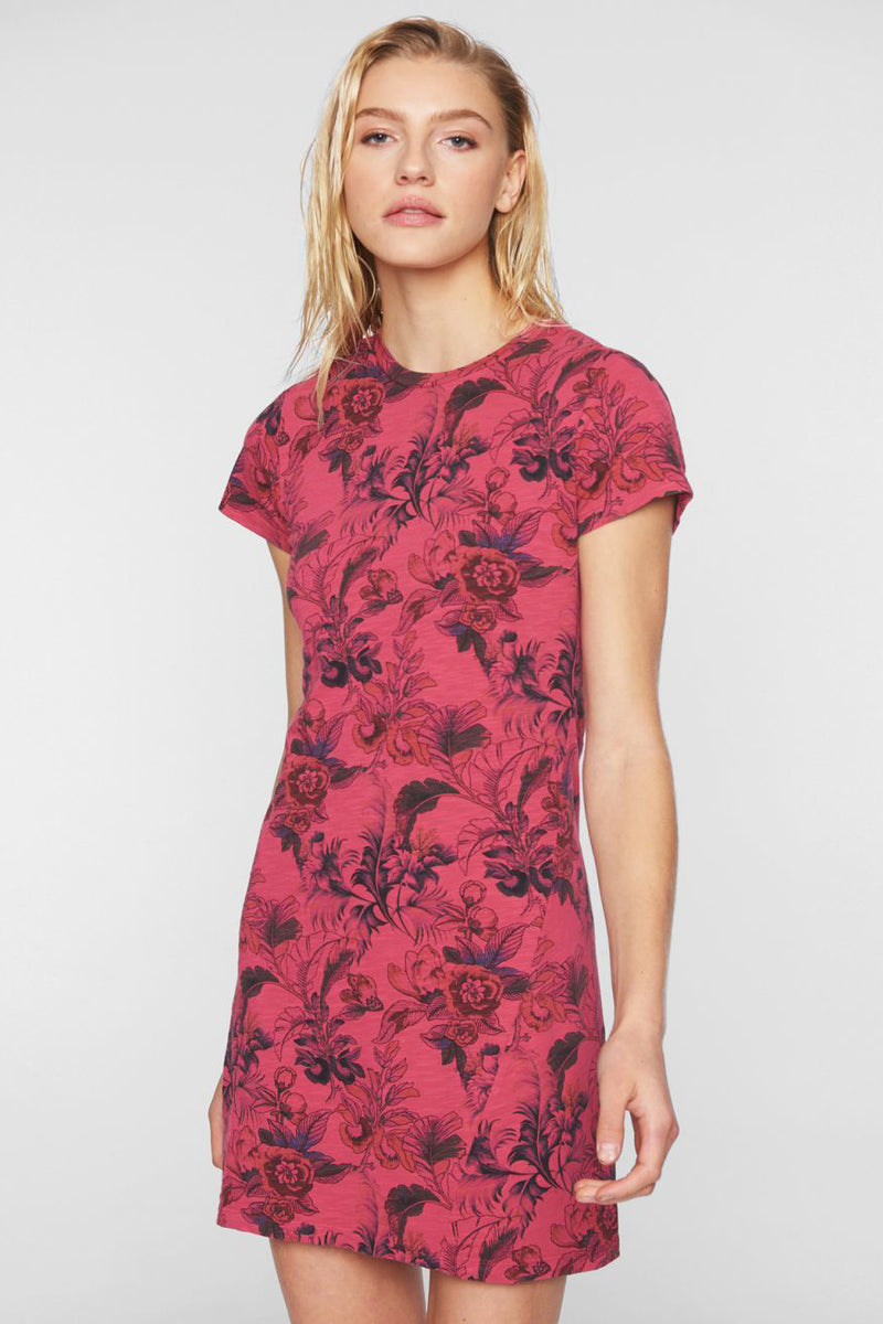 pam and gela t-shirt dress pink floral