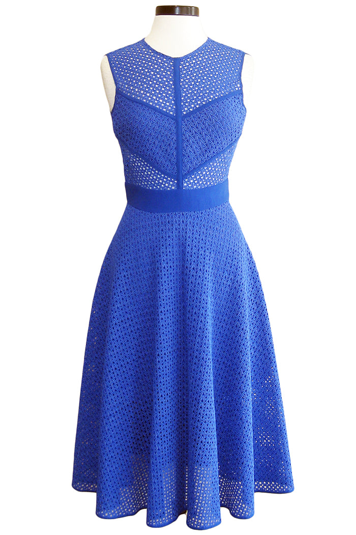 pinko lace dress blue