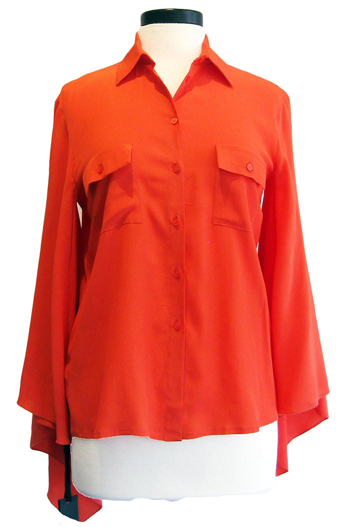 pinko fancy shirt orange