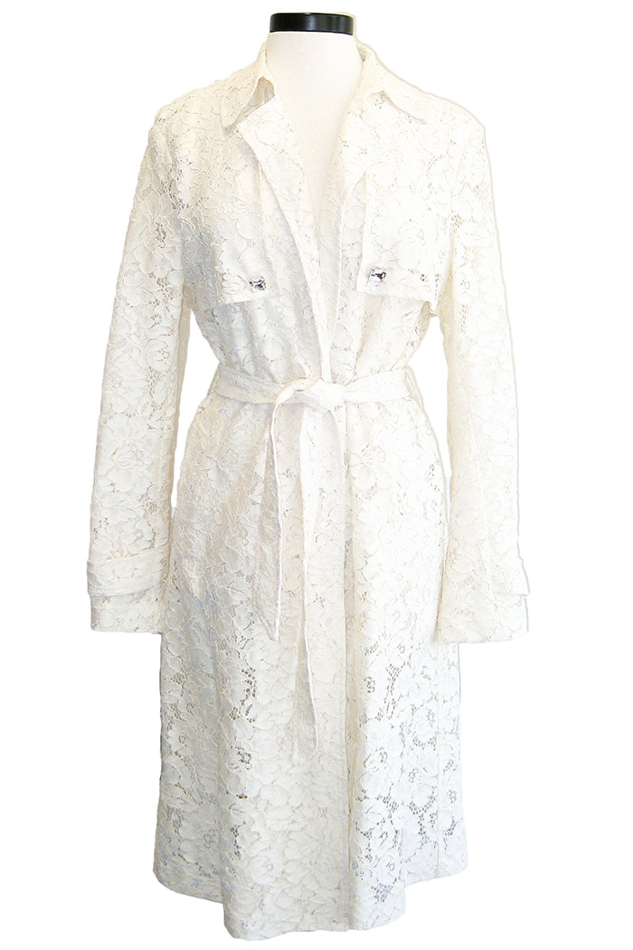 pinko marsha trench white