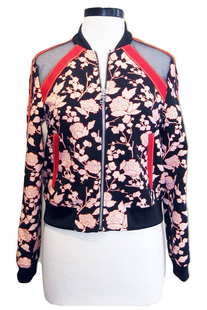 pinko pericoloso jacket red black