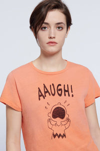 "re/done classic ""aaugh"" tee"