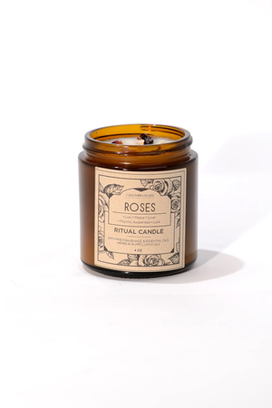 j. southern studio roses ritual candle