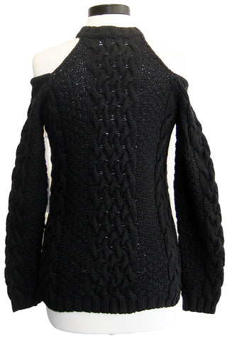 roi cold shoulder keyhole sweater