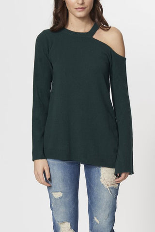 roi one cold shoulder sweater