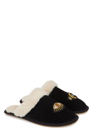 soludos cozy slipper celestial black