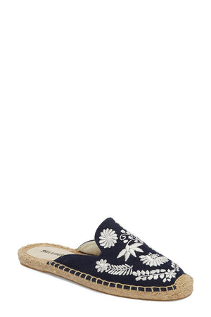 soludos ibiza embroidered mule midnight blue