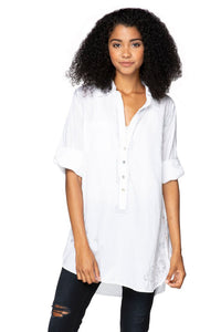 subtle luxury boyfriend shirt white silver
