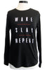 sub_urban riot wake slay repeat camp tee black