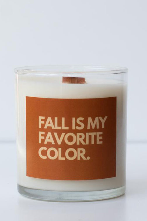 sugar and grace fall is my favorite color candle