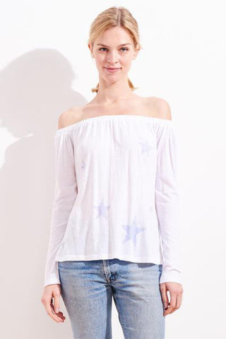 sundry stars off the shoulder top