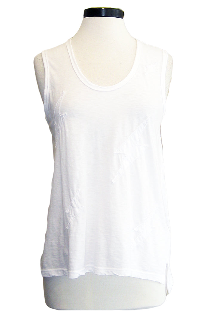 sundry bolts twisted seam tank white