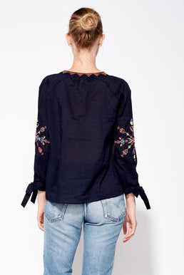 sundry embroidered blouse